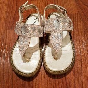 Little girls NINA pink rhinestone sandals size 7